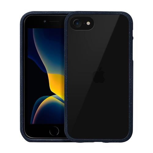 LAUT Crystal Matter – Impact Resistant Case for iPhone SE 2020, 8/7, Blue LAUT-IPSE2-CM-MB