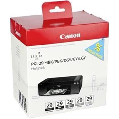 Kazeta CANON PGI-29 MBK/PBK/DGY/GY/LGY/CO Multi pack 4868B018