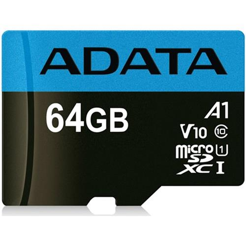 ADATA 64GB microSDHC/SDXC UHS-I Premier class 10 Ultra High Speed AUSDX64GUICL10A1-R