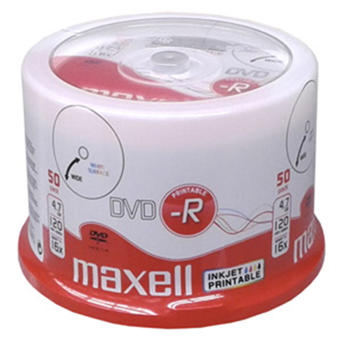 DVD-R MAXELL Printable 4,7GB 16X 50ks/cake 275701.40.TW
