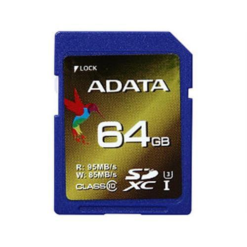 ADATA 64GB SDXC UHS-I U3 XPG (95/85), Class 10 ASDX64GXUI3CL10-R