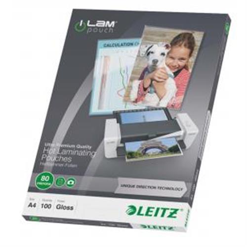 Laminovacie fólie Leitz A4 80 mic ES747800