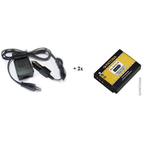 PATONA Sada Nikon EN-EL12 nabíječka+ 2x aku PT1585B