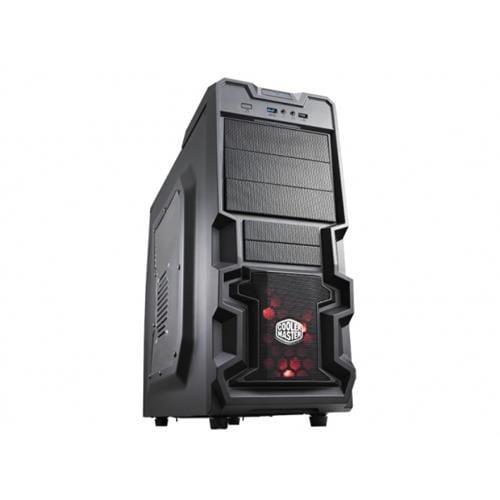 Skrinka CoolerMaster miditower K380, ATX, čierna, USB3.0, priehľ. bok, bez zdroja, príprava pre vodné chladenie RC-K380-KWN1