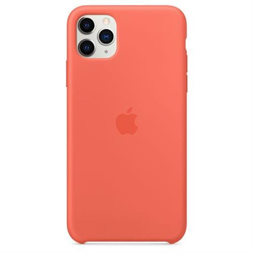 Apple iPhone 11 Pro Max Silicone Case - Clementine (Orange) MX022ZM/A