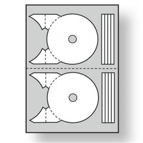 Etikety univerzálne na CD/DVD priemer 117,5 -17mm Agipa 100 hárkov AG101142