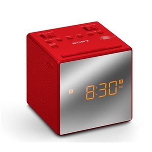 Sony rádiobudík ICF-C1T, duálny alarm, červený ICFC1TR.CED