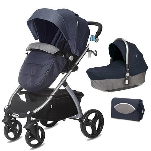 CASUALPLAY - Playxtrem Skyline Set športový kočík, vanička a prebalovacia taška - Jeans (Blue) 8425858340931
