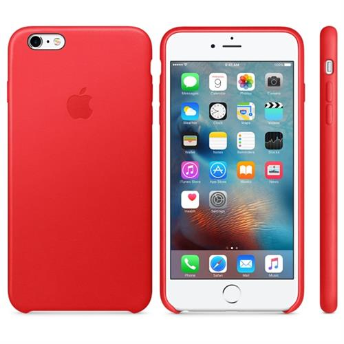 Apple iPhone 6S Plus Leather Case (PRODUCT) RED MKXG2ZM/A