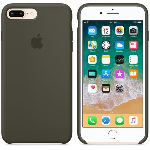 Apple iPhone 8 Plus / 7 Plus Silicone Case - Dark Olive MR3Q2ZM/A