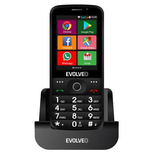 EVOLVEO EasyPhone AD, smart mobilný telefón pre seniorov, čierny EP-900-ADB