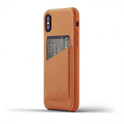 MUJJO Full Leather Wallet Case pre iPhone X - žltohnedý MUJJO-CS-092-TN