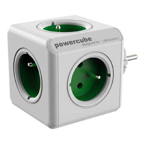 PowerCube Napäťová rozbočka - 230V - 5 zásuviek - zlená KS000PN501
