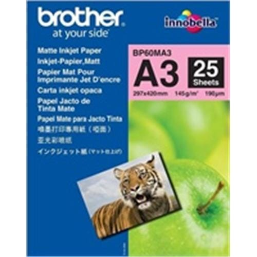 Papier BROTHER BP60 matný A3/25ks BP60MA3