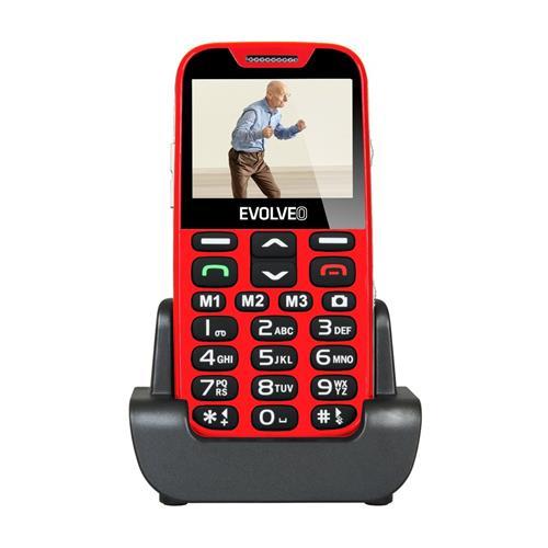 EVOLVEO EasyPhone XD, telefón pre seniorov, červený EP-600-XDR