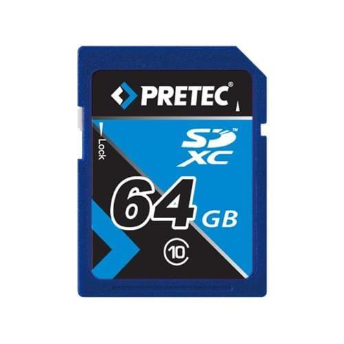 Pretec 64GB SDXC, class 10 (33MB/s, 21MB/s) PCSDXC64GB