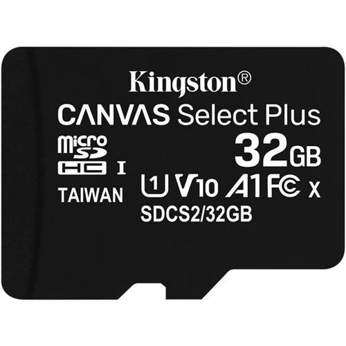 Kingston 32GB microSDHC Canvas Select Plus A1 CL10 100MB/s bez adaptéra SDCS2/32GBSP