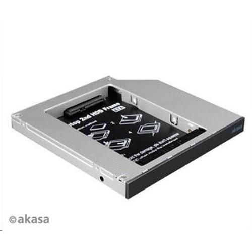"""HDD box AKASA N.Stor S12, 2.5"""" SATA HDD/SSD do pozice pro optickou mechaniku SATA (výška HDD do 13mm) AK-OA2SSA-BKV2"""