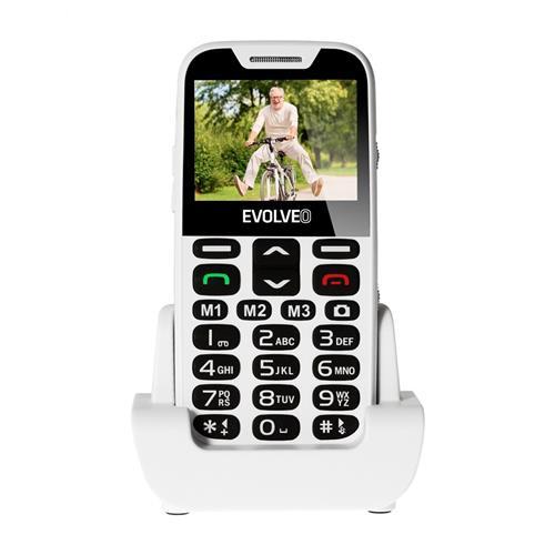 EVOLVEO EasyPhone XD, telefón pre seniorov, biely EP-600-XDW