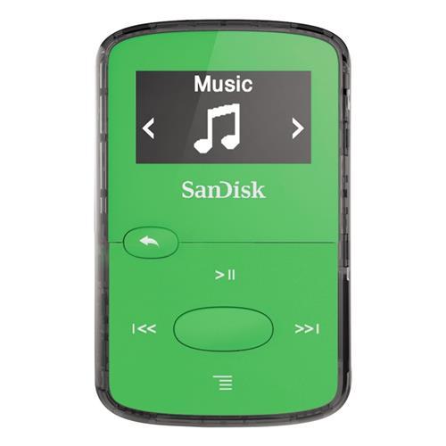 SanDisk MP3 Clip JAM 8GB jasne zelená SDMX26-008G-G46G