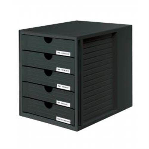 Zásuvkový box System zatvorený čierny HA145013