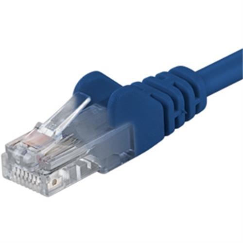 PremiumCord Patch kábel UTP RJ45-RJ45 CAT6 3m modrý sp6utp030B