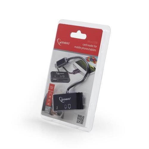 Čítačka kariet GEMBIRD OTG, mini design UHB-OTG-01