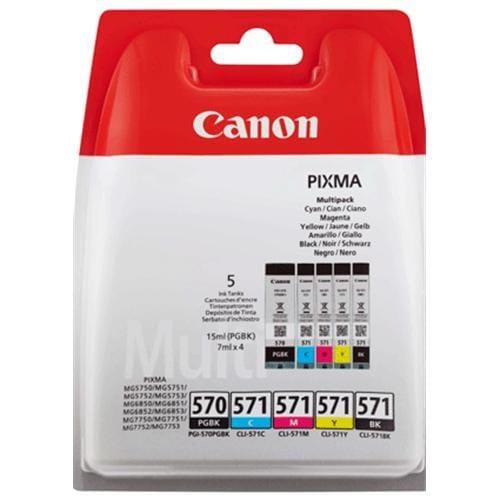 Kazeta CANON PGI-570PGBK + CLI-571 BK/C/M/Y PACK MG 5750/5751/6850/6851/7750/7751 0372C004