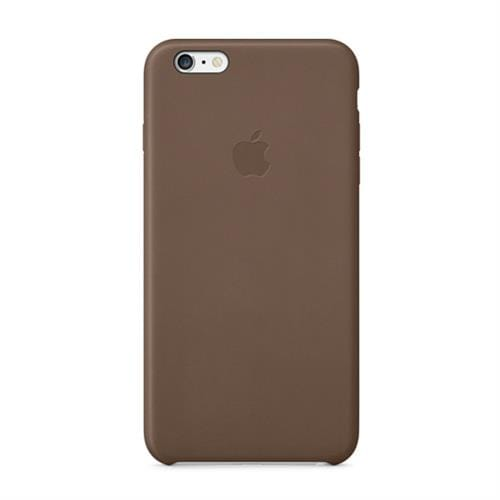Apple iPhone 6 Plus Leather Case - Olive Brown MGQR2ZM/A