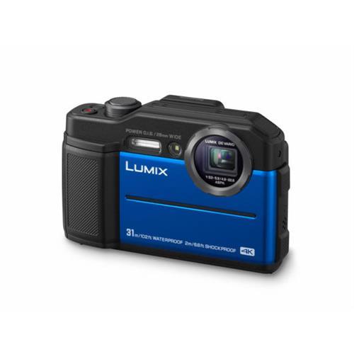 Fotoaparát Panasonic DC-FT7EP-A, 20,4Mpx,4,6x zoom, 28mm, 4K, LED light, vodotesný 31m, modrý