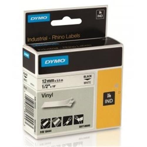 Páska DYMO 18444 PROFI D1 RHINO Black On White Vinyl Tape (12mm) S0718600
