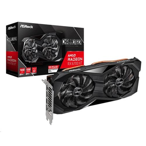 ASRock VGA AMD Radeon RX 6700 XT Challenger D 12GB, RX 6700 XT, 12GB GDDR6, 3xDP, 1xHDMI RX6700XT CLD 12GO