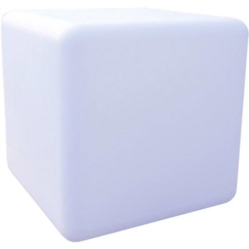 LED solárne zahradne svietidlo – kocka meniaca farby Telefunken Cube, 9.6 W, IP67, bílá 1437029