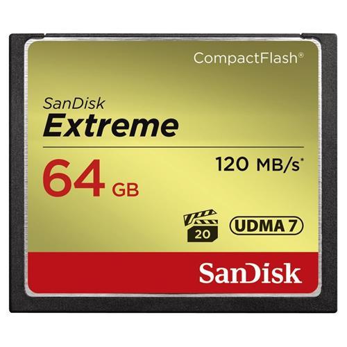 SanDisk Extreme CompactFlash 64GB 120MB/s SDCFXSB-064G-G46