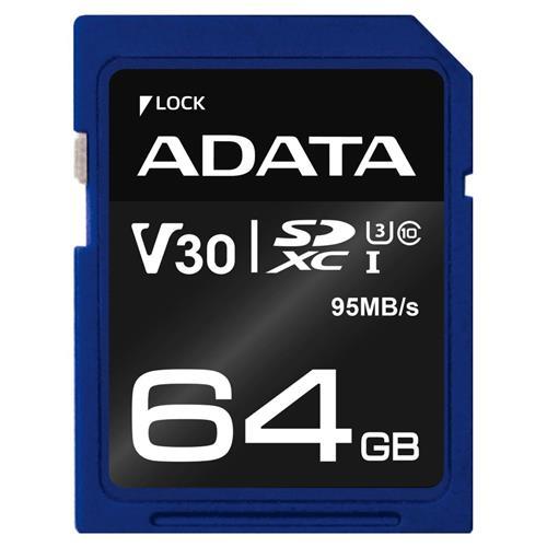 ADATA SDXC 64GB UHS-I U3 V30S 95/60MB/s ASDX64GUI3V30S-R