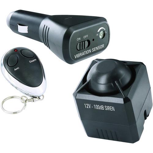 Alarm do auta Smartwares vč. diaľkového ovládania, monitorovanie interiéru, senzor vibráí, 12 V 469339