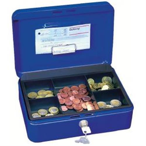 Pokladnička WEDO s klipom 250x180x90mm modrá WE145399