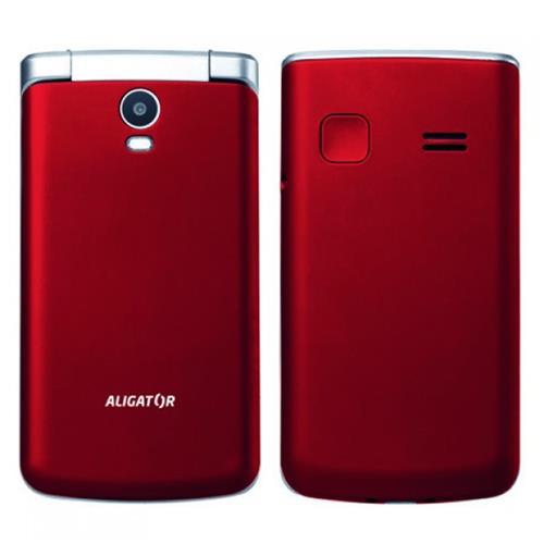 ALIGATOR V710 Senior červeno-strieborný + stolná nabíjačka AV710RS