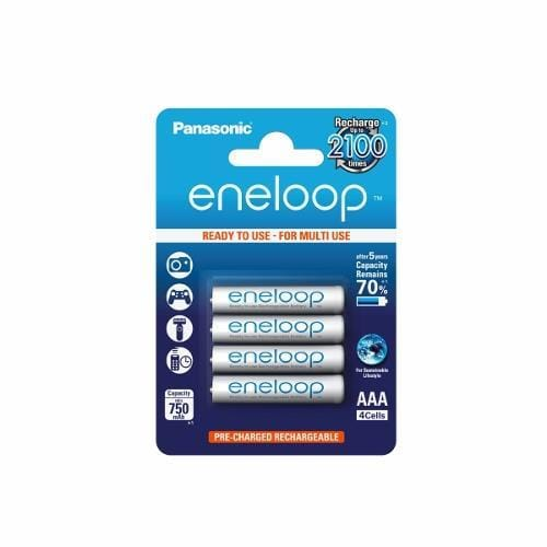 Panasonic Eneloop R03/AAA 750mAh, 4 ks, Blister BK-4MCCE-4BE