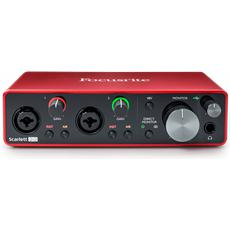 Focusrite Scarlett 2i2 3rd Gen, 2-in, 2-out USB audio interface (M)