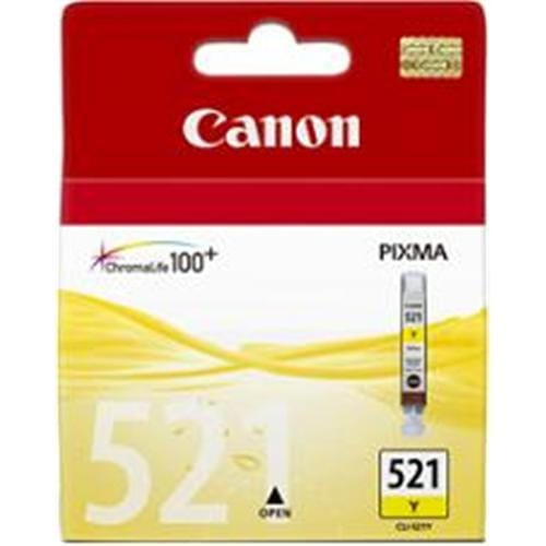 Kazeta CANON CLI-521Y yellow MP 540/620/630/980, iP 3600/4600