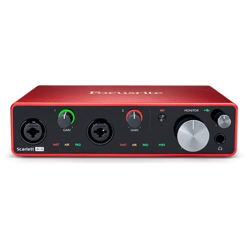 Focusrite Scarlett 4i4 3rd Gen, 4-in, 4-out USB audio interface (M)
