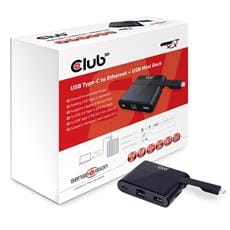 Club3D MINI USB-C Smart Docking Station (RJ45+USB3.0+USB-C Charger )