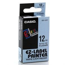 Páska CASIO XR-12X1 Black On Transparent Tape EZ Label Printer (12mm)
