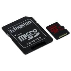 Kingston 128GB microSDXC UHS-I Class U3 90MB/s read, 80MB/s write + SD adaptér