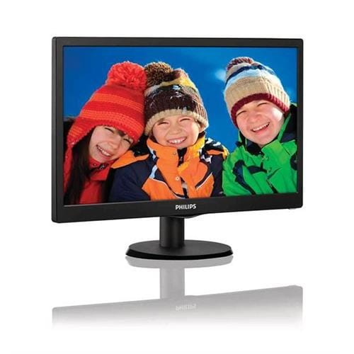Monitor Philips 193V5LSB2/10, 18,5, W-LED, 1366 x 768, 10M:1, 5ms, 200cd, D-SUB, čierna textúra