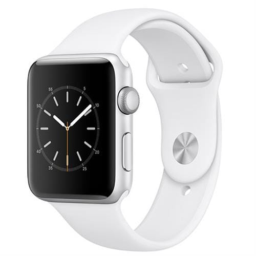 Apple Watch Series 2, 42mm Silver Aluminium Case with White Sport Band