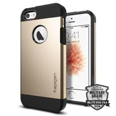 Spigen kryt Tough Armor pre iPhone SE - Champagne Gold