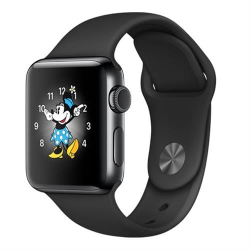 Apple Watch Series 2, 38mm Space Black Stainless Steel Case with Space Black Sport Band