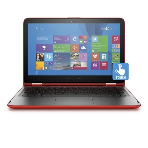 HP Pavilion x360 13-s104nc Core i3-6100U dual, 13.3 FHD, UMA, 4GB, 500GB + 8GB NAND, W10, Touch/Sunset red - IMR